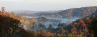 Panorama of a Fog-Laden Valley in Jefferson County, Alabama