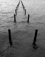 Broken-Down Pier in Arnica Bay, Elberta, Alabama