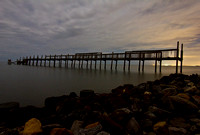A Pier in the Bayou la Batre Twilight